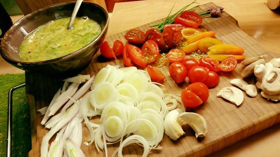 alle groentjes in fijn snijden