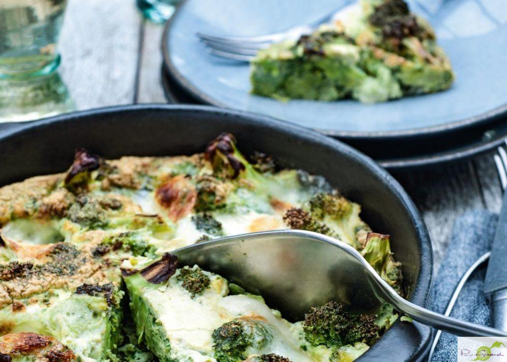 Hartige broccolitaart met mozzarella