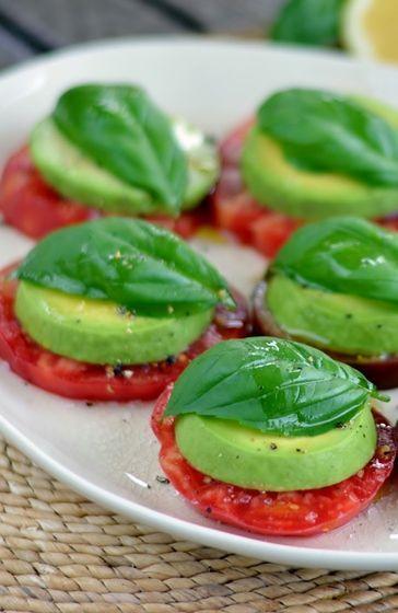 Advocado, tomaat en olijfolie