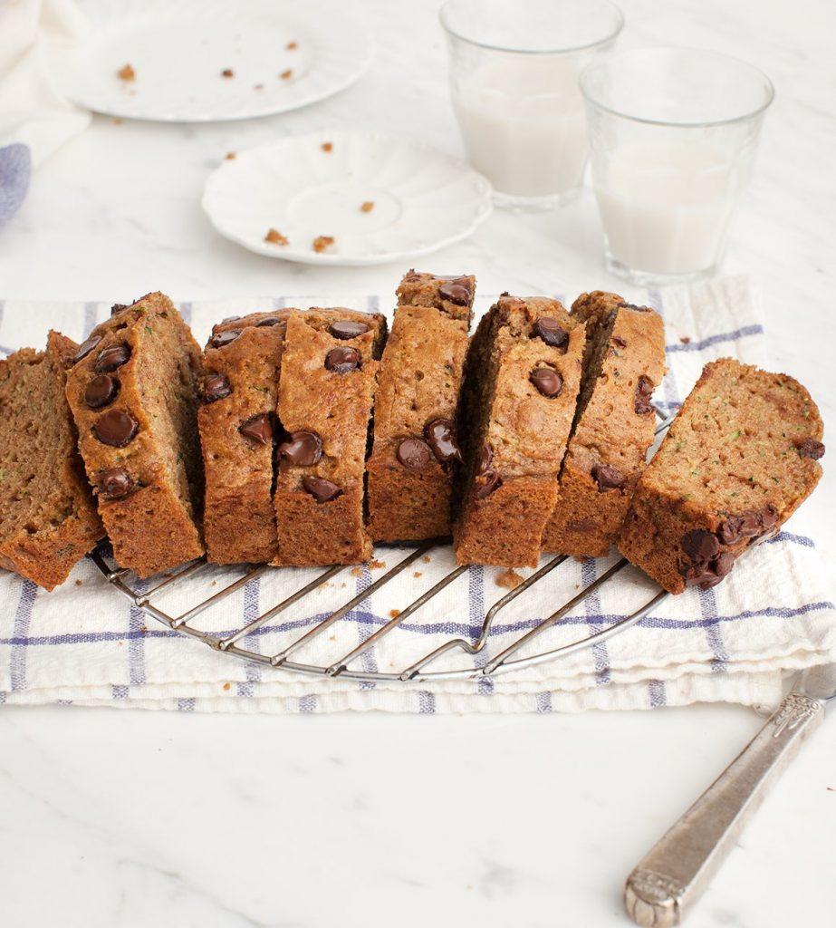 Amandel - chocolade - courgettebrood