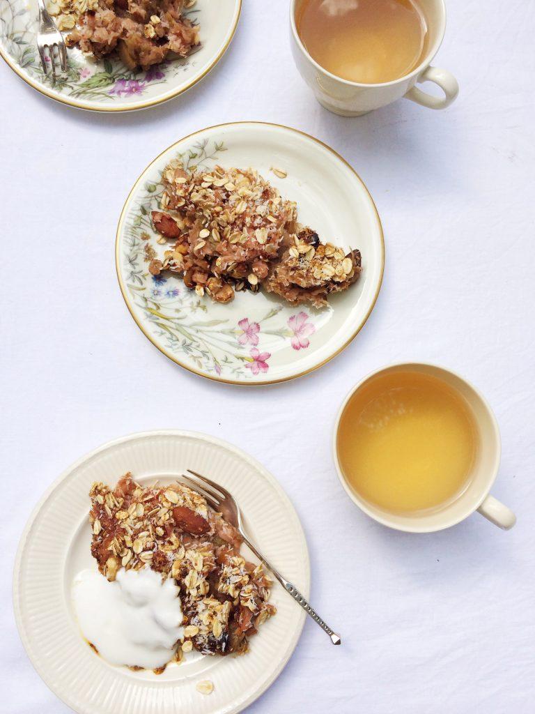 Crumble recept met rabarber & suikervrij!