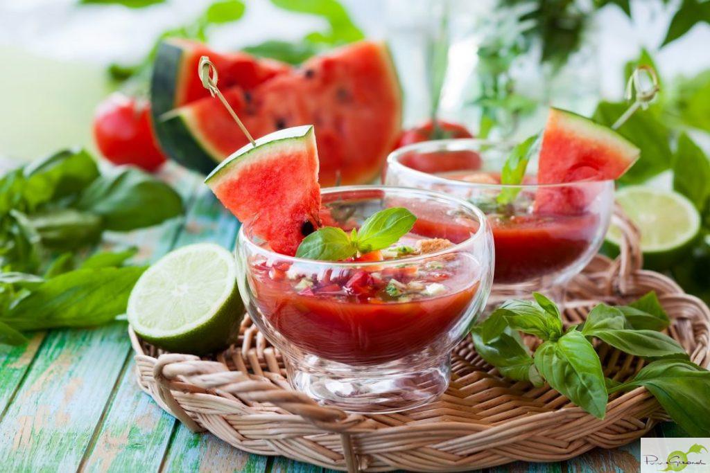 Gazpacho van watermeloen
