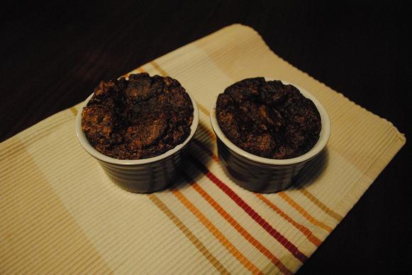 Gezonde chocolade souflé