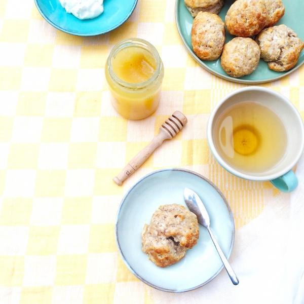 Gezonde scones met banaan en kokos