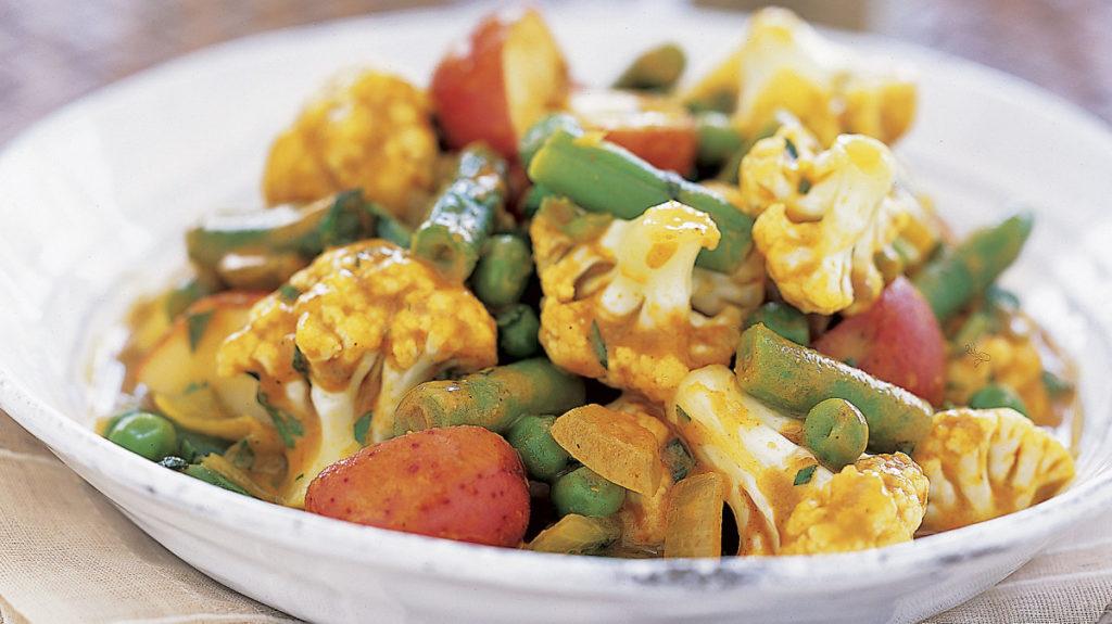 Snelle groenten - aardappel curry