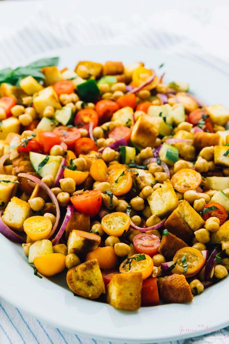 Kikkererwten / panzanella salade