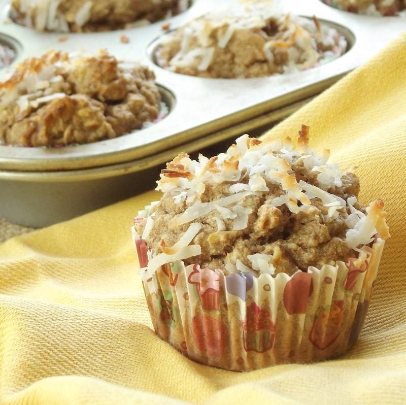 Vegan kokosnoot-banaan muffins