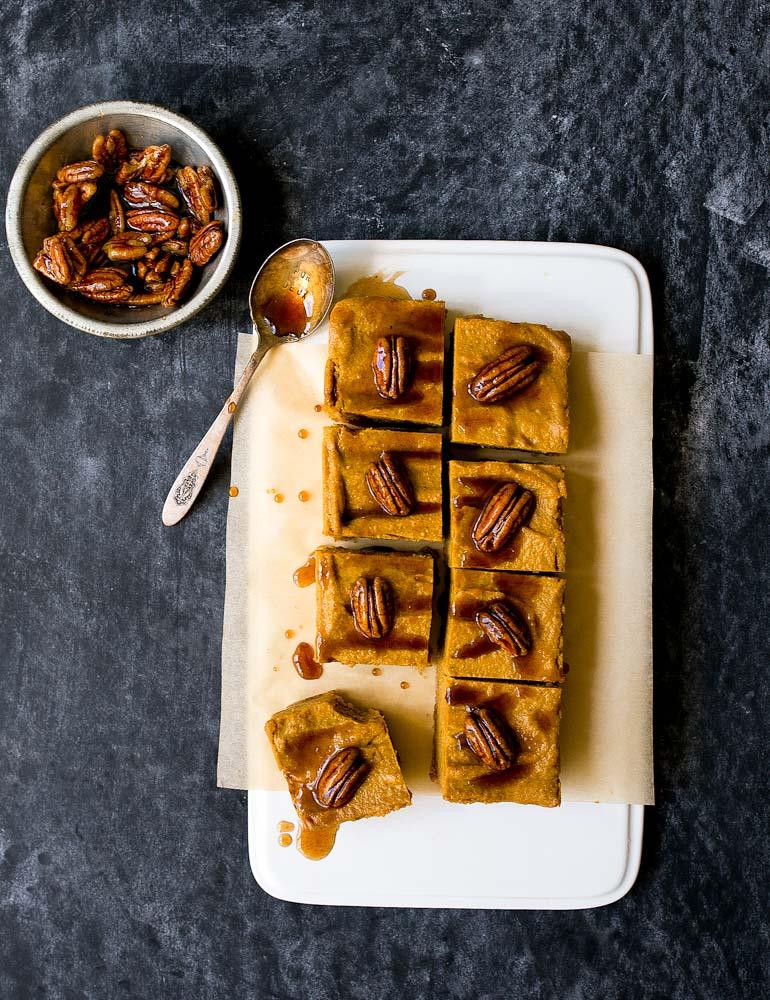 Vegan pompoen - cheesecake
