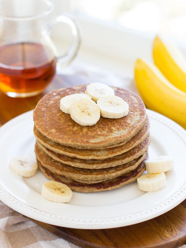 Bananen - pannenkoek met pindakaas