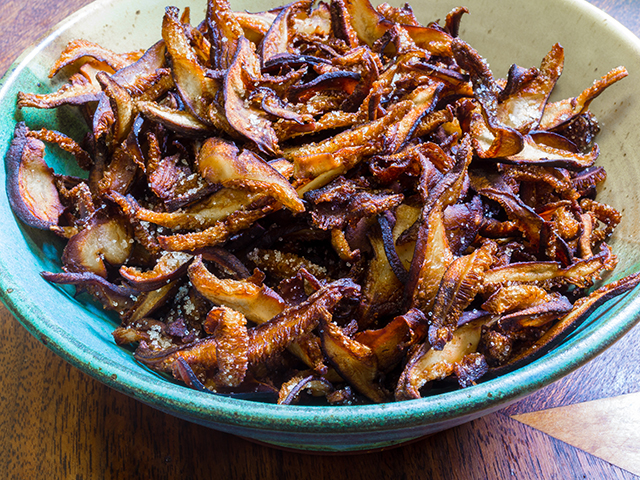 Champignon chips van shiitake