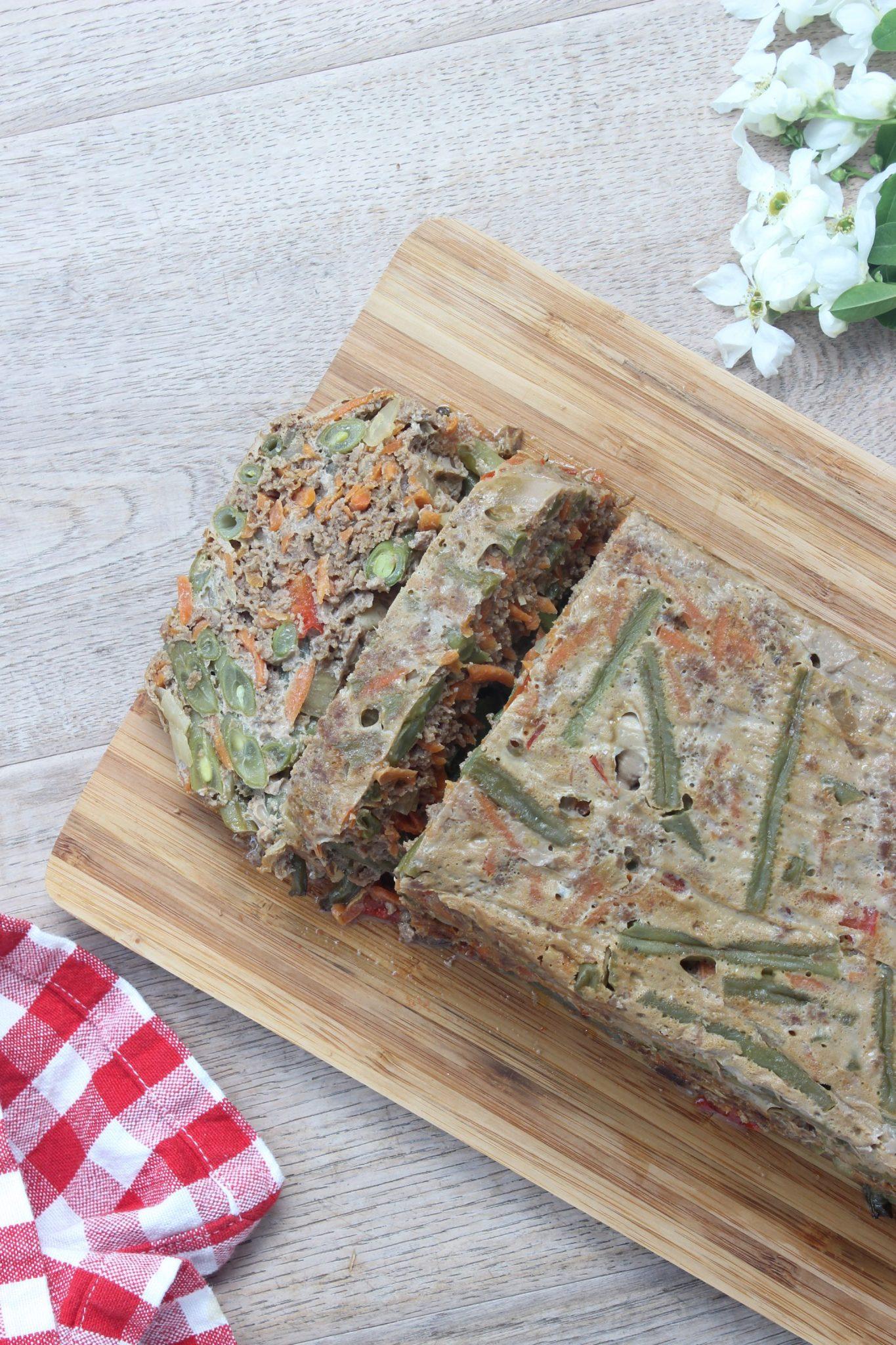 gehaktbrood met groenten
