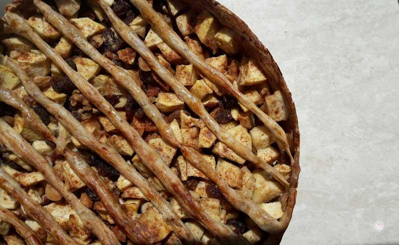 gezonde noten-appeltaart