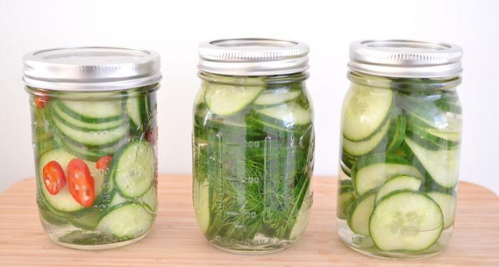 Ingemaakte komkommers
