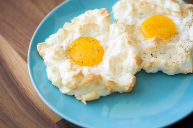 Parmezaanse wolk - eieren