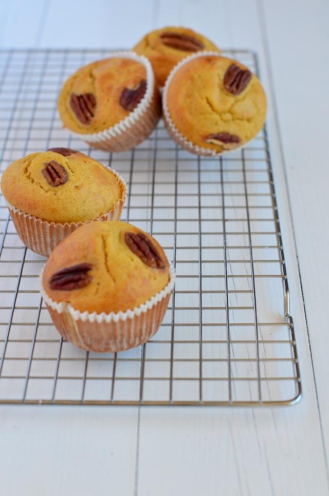 Herfstige pompoen muffins