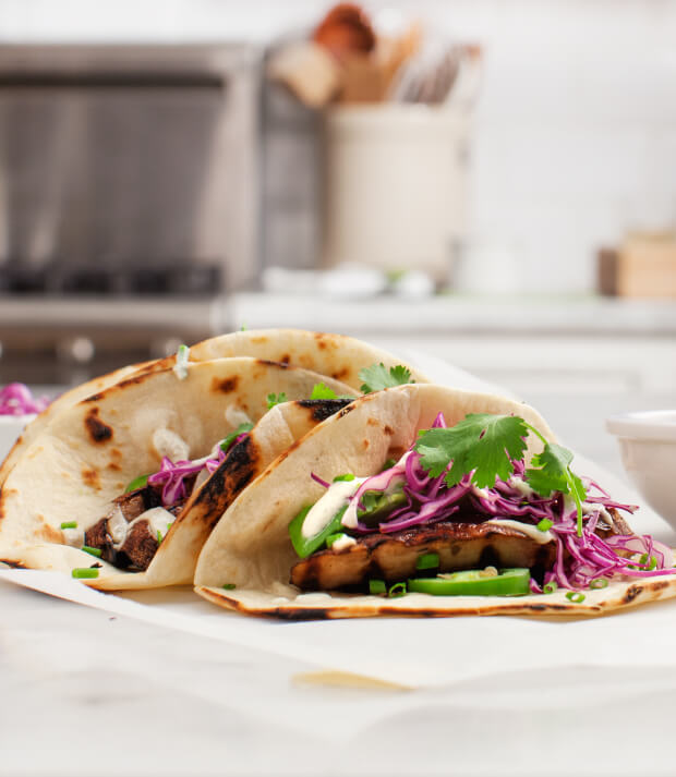 portobello tacos met jalapeno saus
