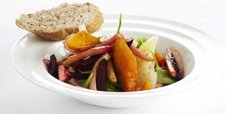 salade met vergeten groenten