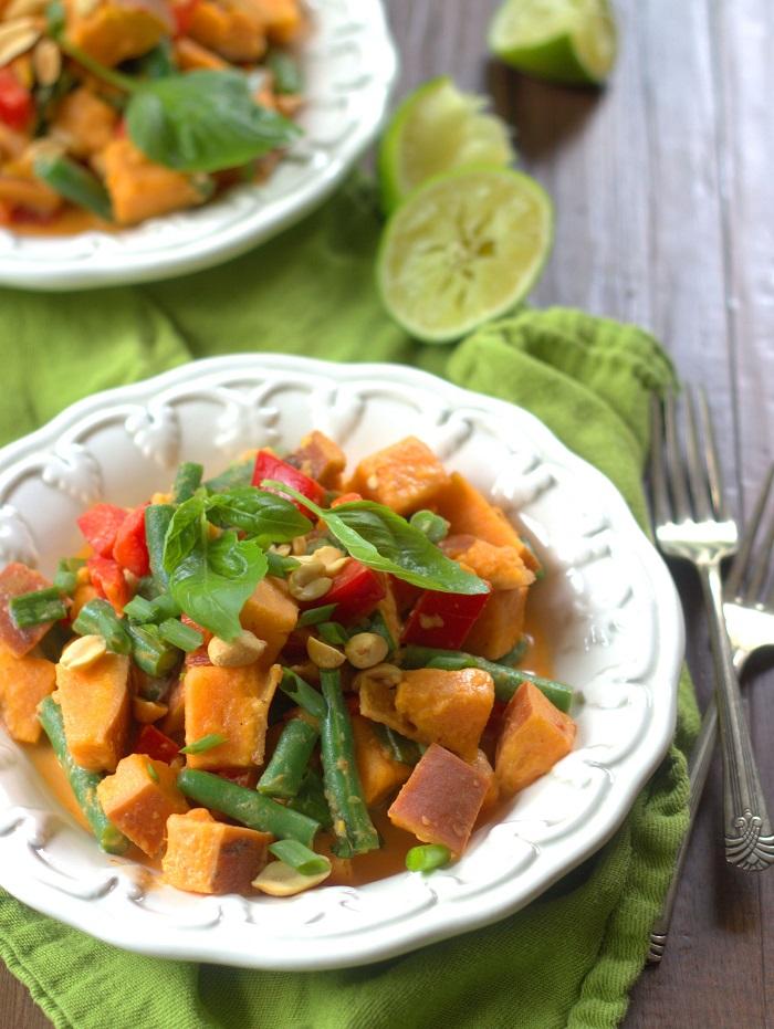 Thaise zoete aardappelsalade