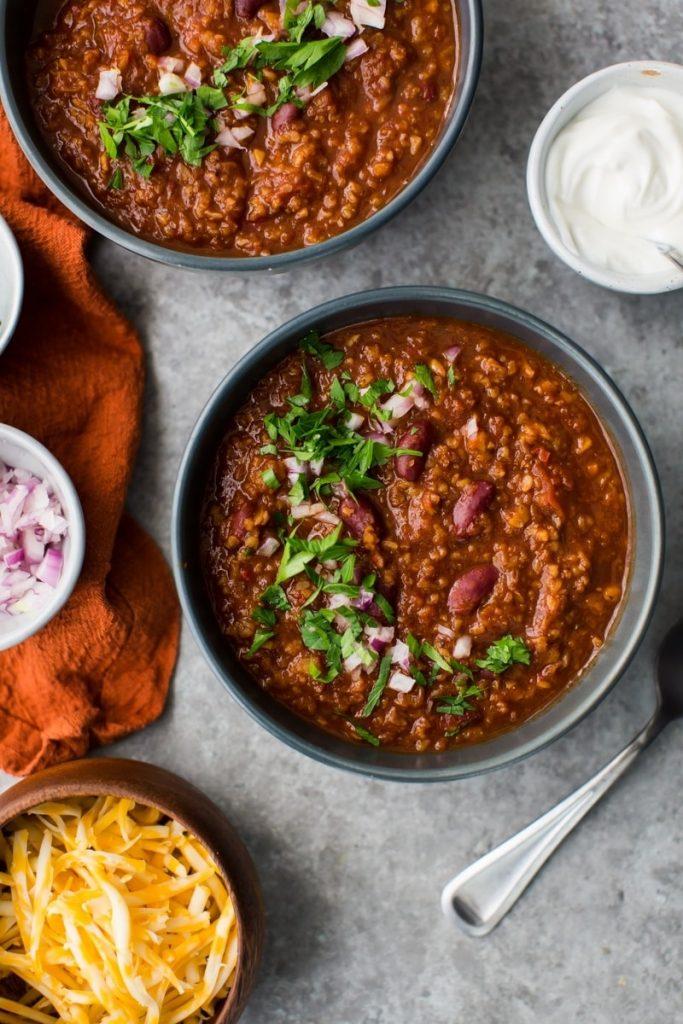 Vegetarische bulgur chili