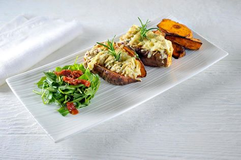 Surinaamse zoete aardappelen met tonijn