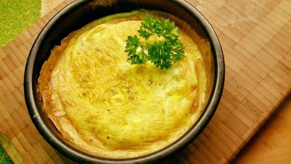 Soufflé omelet in de airfryer
