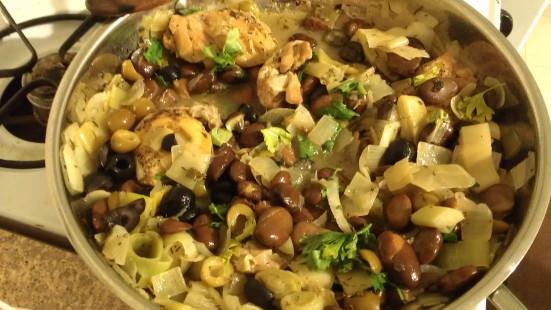 Andalusische kipschotel met olijven