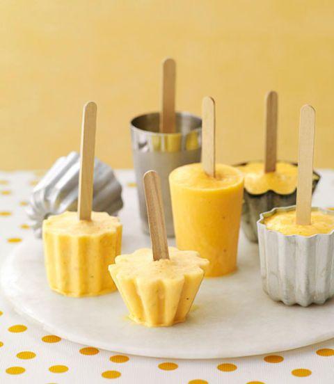 Appelsien - banaan smoothie pops