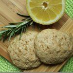 Koekjes met rozemarijn en citroen