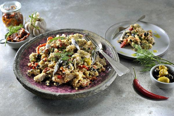 Mediteraanse quinoa salade