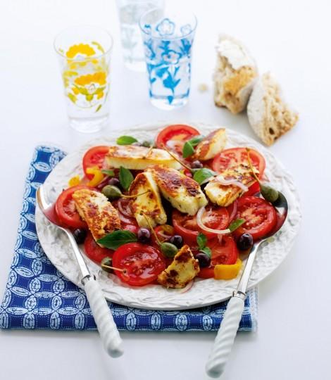 Mediterraanse haloumi salade