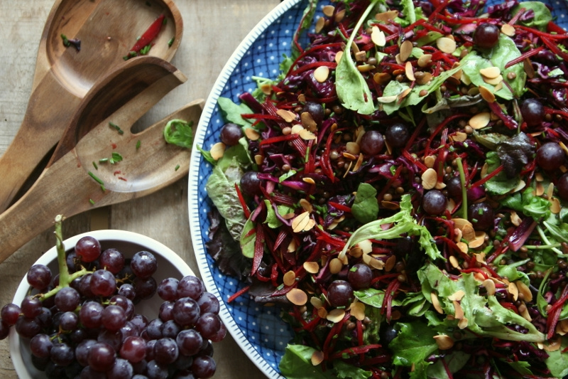 Paarse lunchsalade