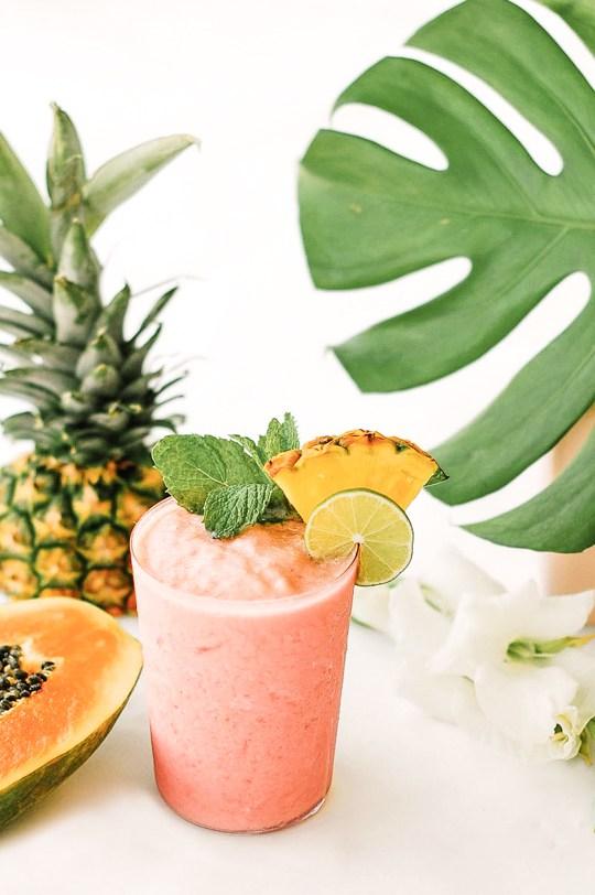 Papaja-rum-watermeloen smoothie