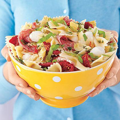 Pizza pasta salade