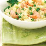 Romige risotto met gerookte zalm