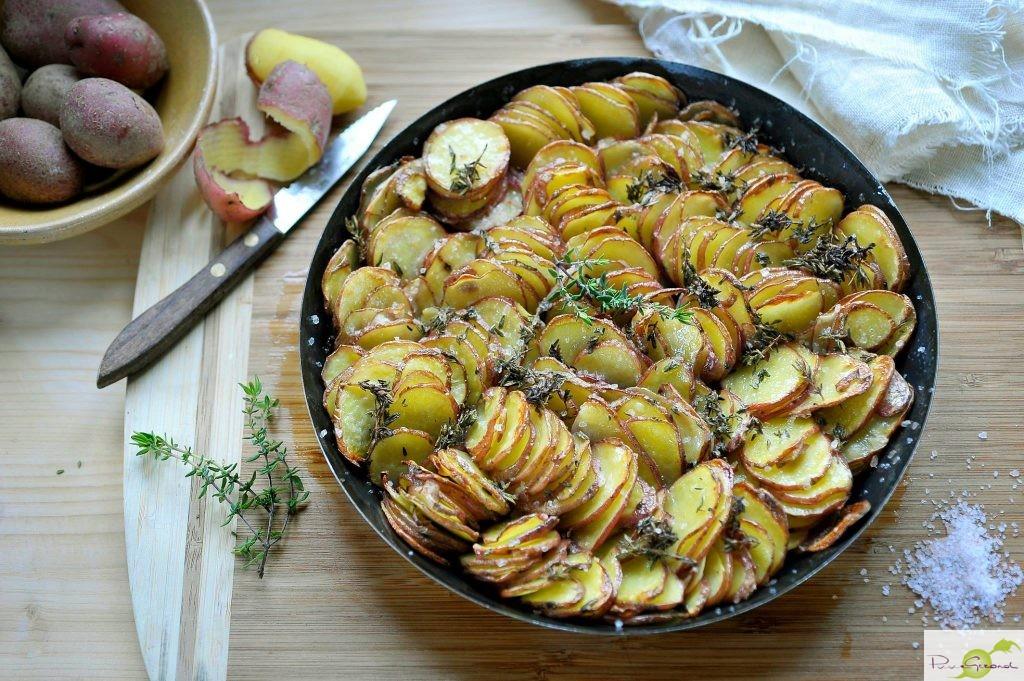 Franceline aardappelschotel met tijm