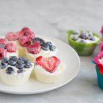Bevroren banaan - yoghurtcups met fruit
