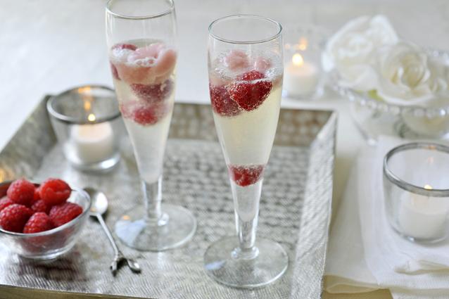 Spoom van champagne
