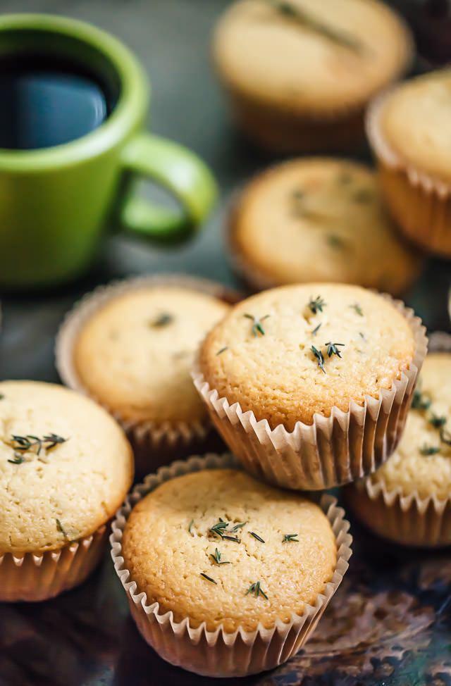 Citroen - tijm yoghurt muffins