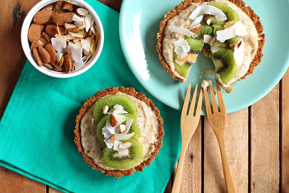 Kiwitaartje met kokoscréme