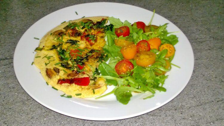 Champignon-bieslook-omelet