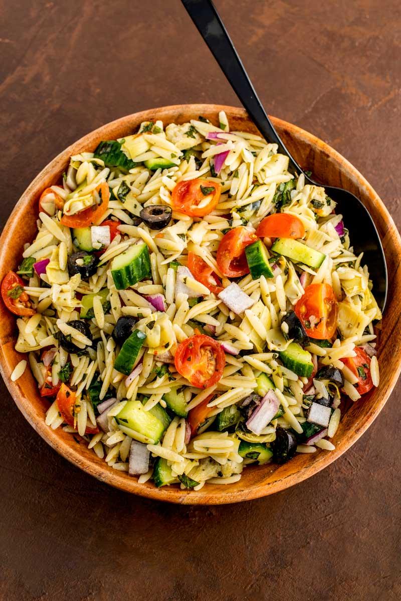 Orzo pasta salade