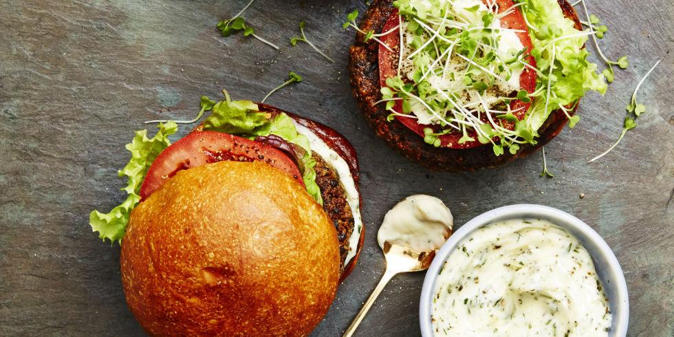 Portobello - quinoa burger