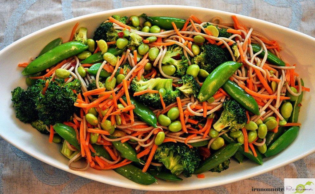 Sobanoedels met lekkere groenten