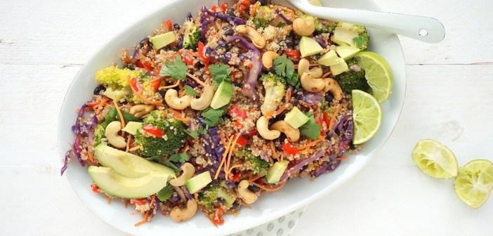 Thaise quinoa salade met broccoli